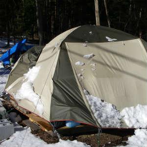 テントのメンテナンスをした