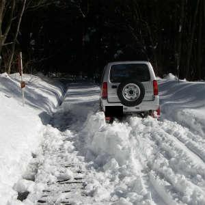 林道の除雪開始