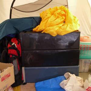 テントを手仕舞いして山を下りた。