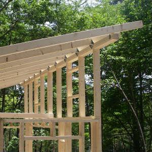 屋根の垂木取り付けなど