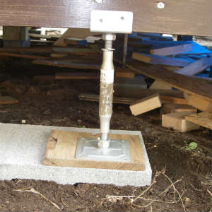 鋼製束増設とタープ取り付け