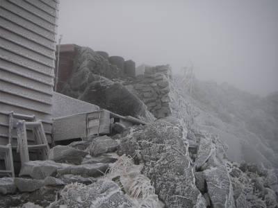 凍てつく山小屋