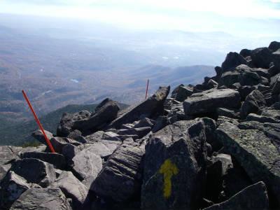 山頂手前付近