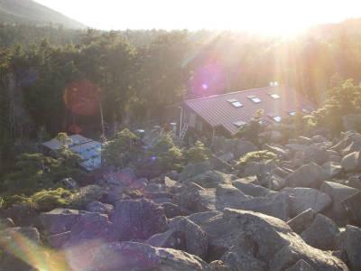 展望台から小屋