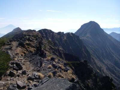 赤岳への縦走路