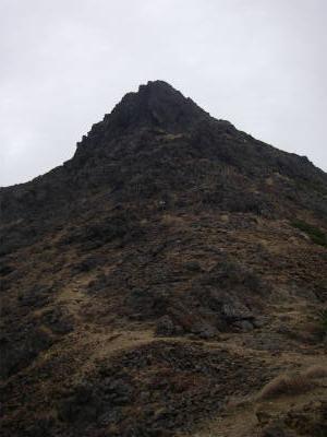 赤岳からの下り