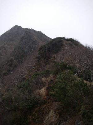 権現岳の登り