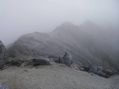 南駒ケ岳方面