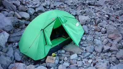 テントを設営したところ。