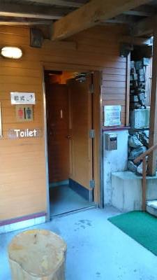 ヒュッテの外トイレ