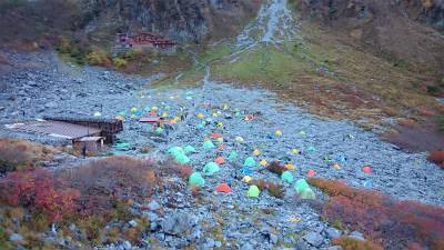 涸沢のテント村