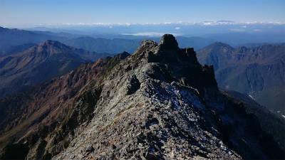 西穂高岳方面