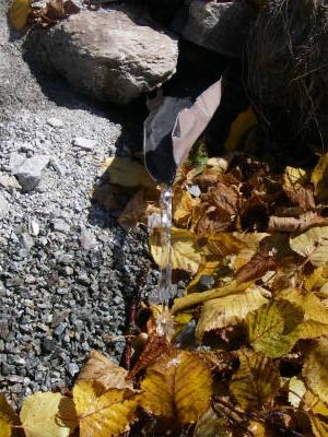 七倉岳の美味しい湧き水