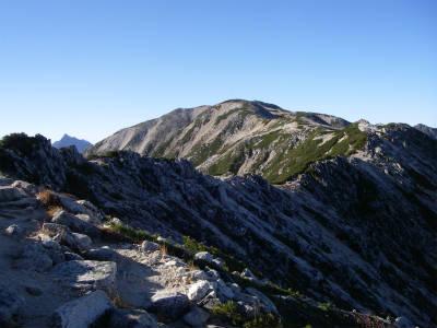 野口五郎岳への道
