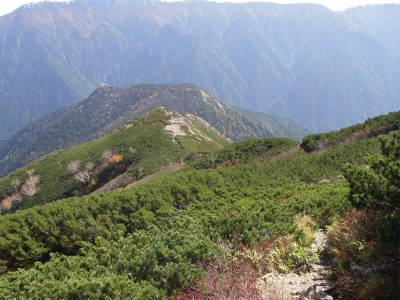 湯俣岳への下山コース
