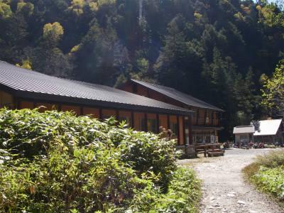 ようやく横尾山荘に到着
