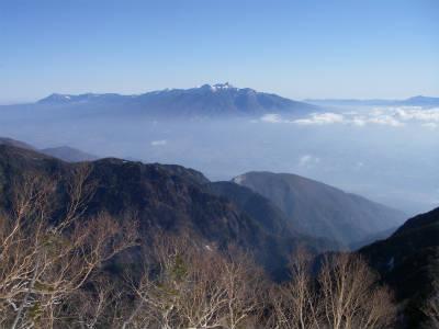 八ヶ岳が見える。