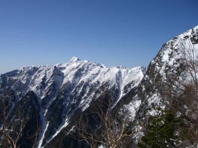 北岳も見える。