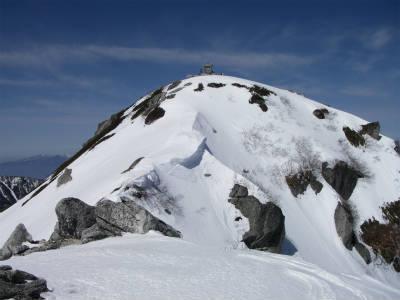 山頂が見えてきた。