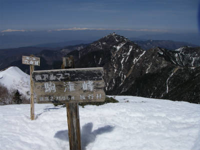 駒津峰までやって来て一安心。