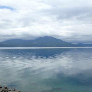 支笏湖を彷徨く