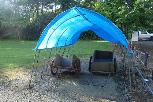 山部自然公園太陽の里キャンプ場 貸出用リヤカー
