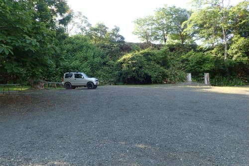 山部自然公園太陽の里キャンプ場 第一キャンプ場駐車場