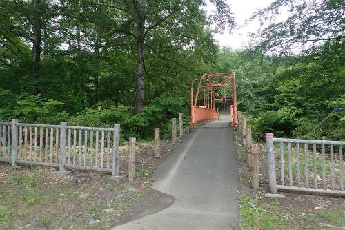 山部自然公園太陽の里キャンプ場 連絡橋