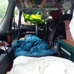 長期車中泊生活の問題噴出
