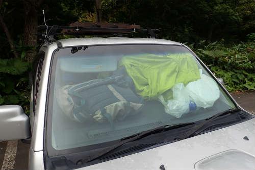 車中泊の目隠し