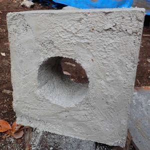 メガネ石の完成と床下収納製作その2