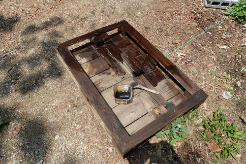 木製パレット 廃油