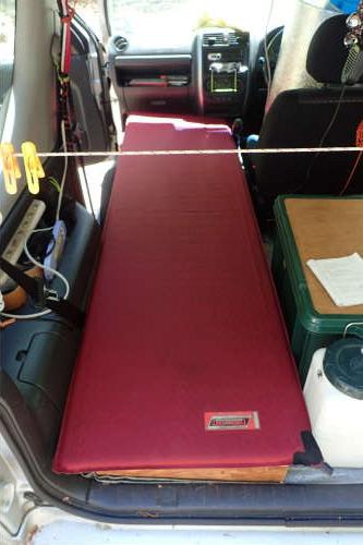 Jimny車中泊用ベッド