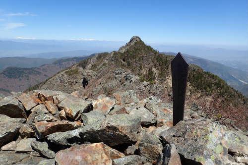 鋸岳第二高点