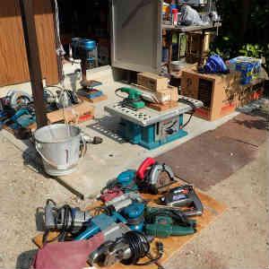 木材と電動工具の処分