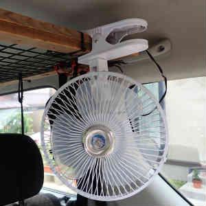 車内換気用扇風機の効率良い運転方法を検討した