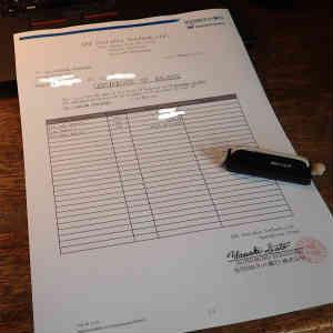 住信SBIネット銀行の預金残高証明書(英文)を無料で作成した