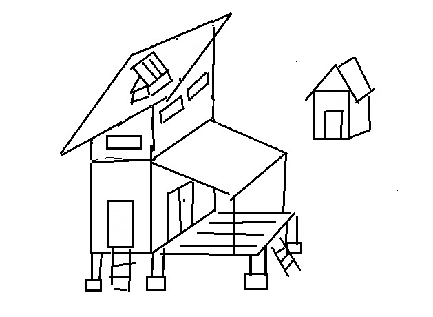 山小屋完成図